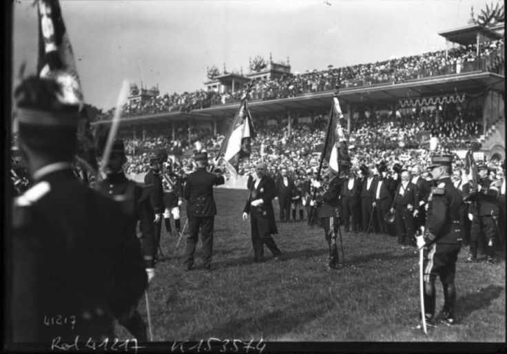 Poincaré aux cérémonies du 14 juillet 1914