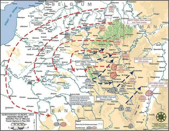 Le terrible plan Schlieffen allemand