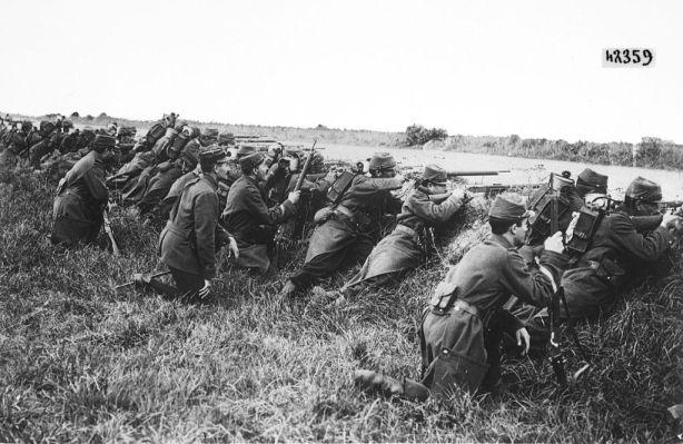 Soldats français en septembre 1914